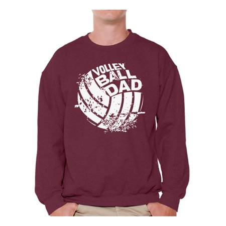Awkward Styles Men's Volleyball Dad Graphic Sweatshirt Tops Vintage Father`s Day Gift for Sport Dad