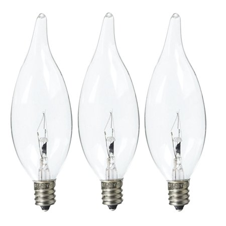 GE Crystal Clear Decorative Bent Tip Chandelier Light Bulb 40 W (Pack Of 3)