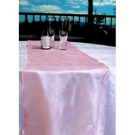 BULK PACK (6) Organza Table Runners - Pink