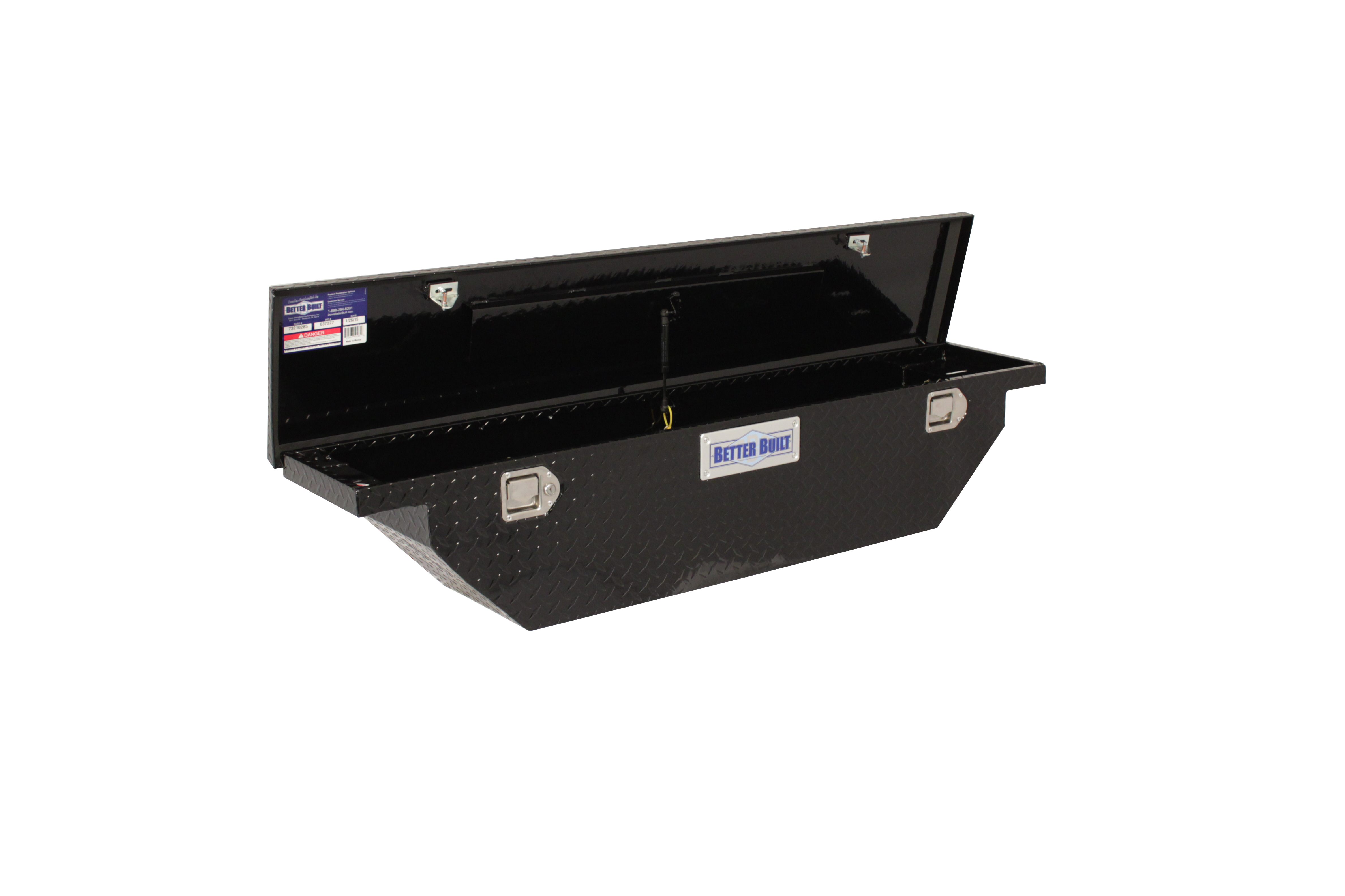 Truck Tool Box Slimline Low Profile Visibility Truck Bed Strut Locking Crossover