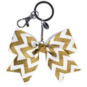 Chassé Girls' Mini Chevron Bow Keychain