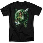 Trevco Green Lantern-Galaxy Glow Short Sleeve Adult 18-1 Tee, Black - Small