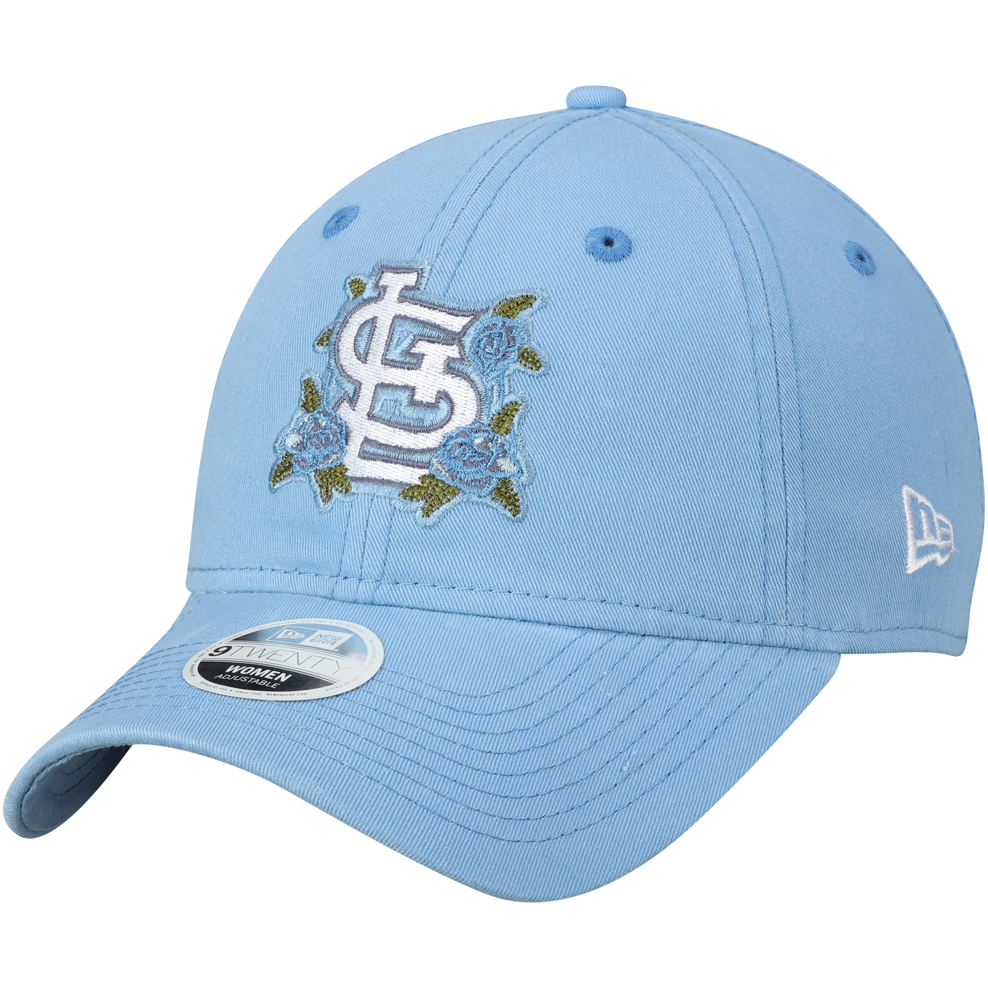St. Louis Cardinals New Era Women's Bloom 9TWENTY Adjustable Hat - Blue - OSFA