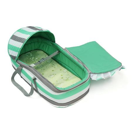 Baby Moses Basket Newborn Travel Bed Bassinet Carrier Cradle Comfortable W/ Hood - image 3 de 9