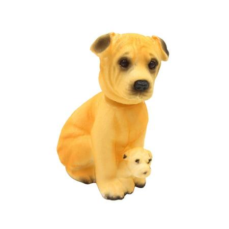 Shar Pei Shaped Bobble Head Dog Car Dashboard Nodding Nodder Decor Gift ()