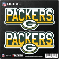 "Green Bay Packers 6"" x 6"" Two-Tone Repositionable Decal 2-Pack Set - No Size"