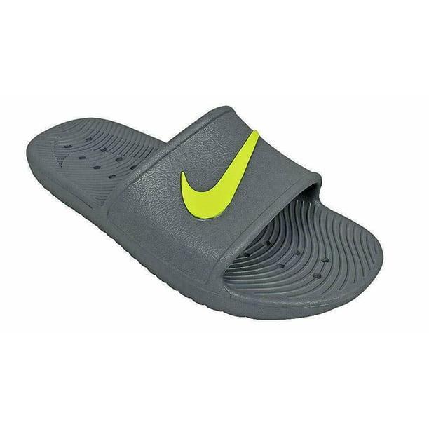 Nike Kawa Shower Cool Grey/Volt Men's Slide Sandals Size 13