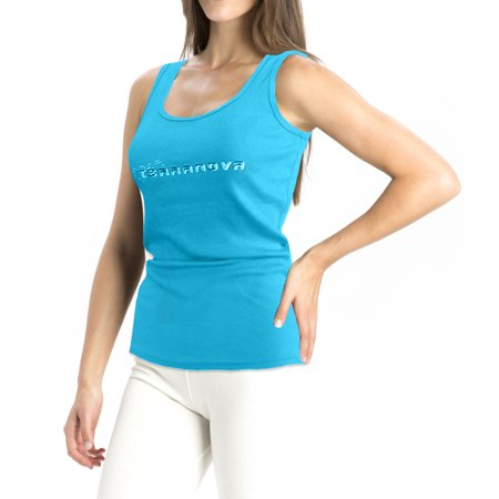 Turquoise Ribbed (A women's Ribbed Tank Tops Turquoise Medium)
