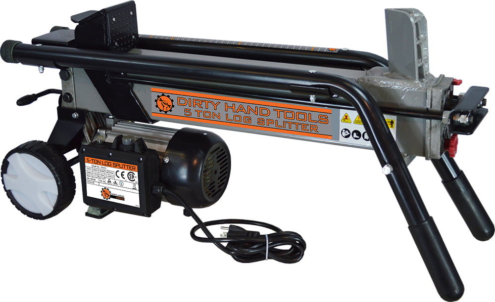 Dirty Hand Tools 5 Ton Electric Horizontal Log Splitter by Log Splitters