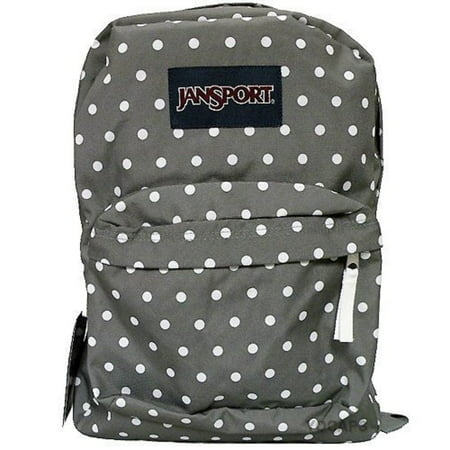 Jansport Superbreak Backpack (Shady Grey / White Dots) - Walmart.com