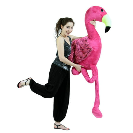 Superb Giant 6 Foot Stuffed Pink Flamingo 72 Inch Soft Life Size Big Plush Tropical Bird Creativecarmelina Interior Chair Design Creativecarmelinacom