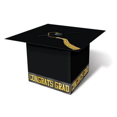 Graduation Cap Card Box ((Pack of 6) Graduation Party Grad Cap Card)