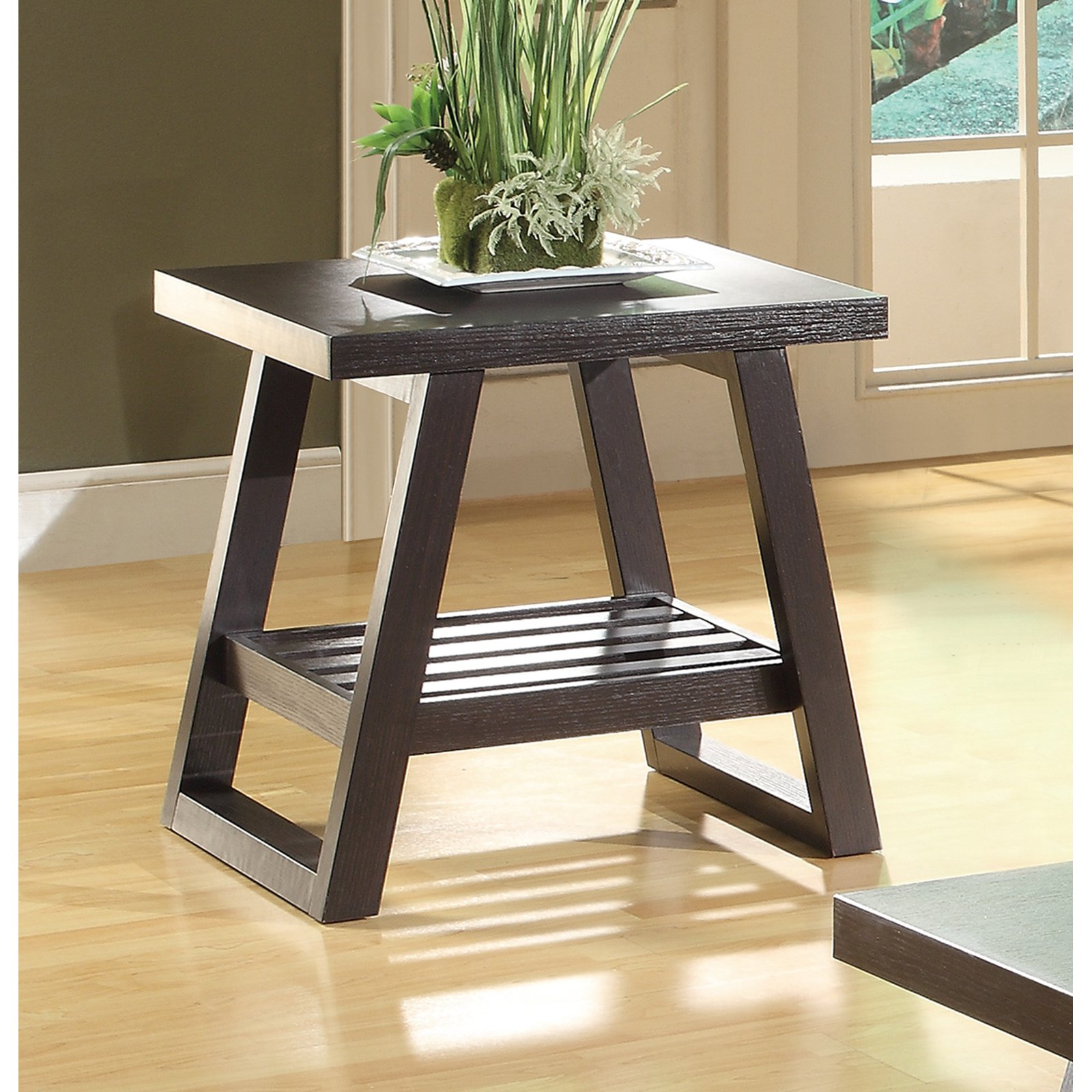 Coaster Furniture Rectangular Wood End Table - Cappuccino