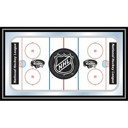Nhl Rink Mirror (NHL Rink Mirror with NHL Shield)