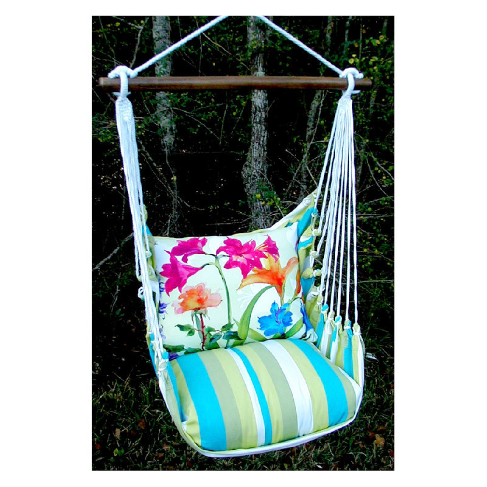 Magnolia Casual Spring Fling Hammock Chair and Pillow Set