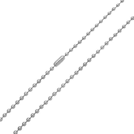 Mens Link Strong Silver Tone Stainless Steel Shot Bead Ball Chain Necklace For Men For Women 18 20 24 30 Inch 3MM Beaded Silver Tone Chain