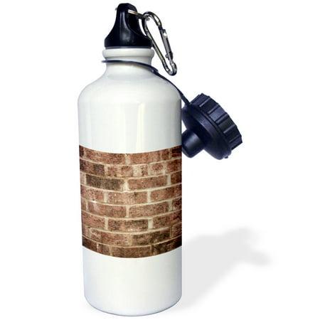 3dRose Brown brick wall texture photography - Grunge red bricks Building construction urban masonry builder, Sports Water Bottle, 21oz