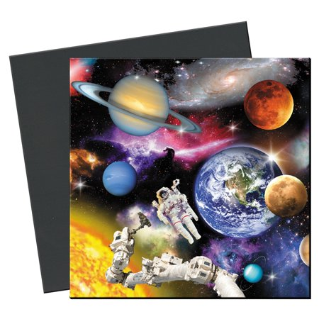 Tree-Free Greetings Outer Space Magnet - Greetings Rectangle Magnet