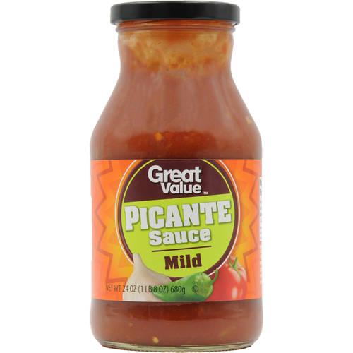 Great Value Mild Picante Sauce, 24 oz