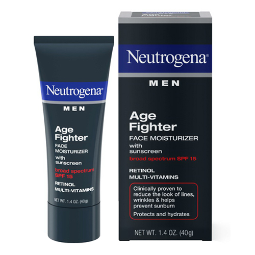 Neutrogena Age Fighter Face Moisturizer For Men With Spf 15 - 1.4 Oz, 2 Pack