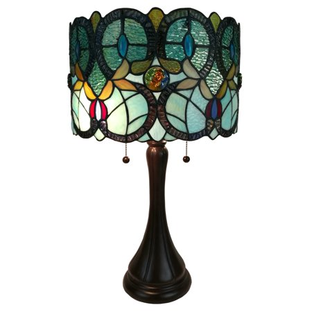 Floral One Light - Amora Lighting AM286TL12 Tiffany Style Floral Table Lamp