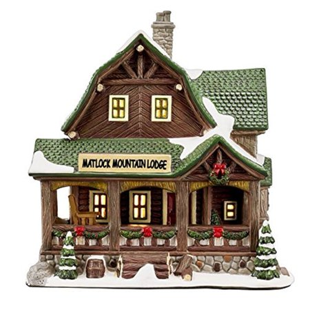 Matlock Mountain Lodge Christmas Village House Carole Towne Collection ()