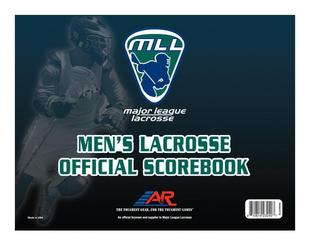 Major League Lacrosse Official Scorebook Men, USA, Brand A&R Sports by