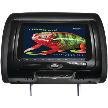 Chameleon 7-in LCD Headrest w/DVD 3 Color Covers(Match w/CLS-703)