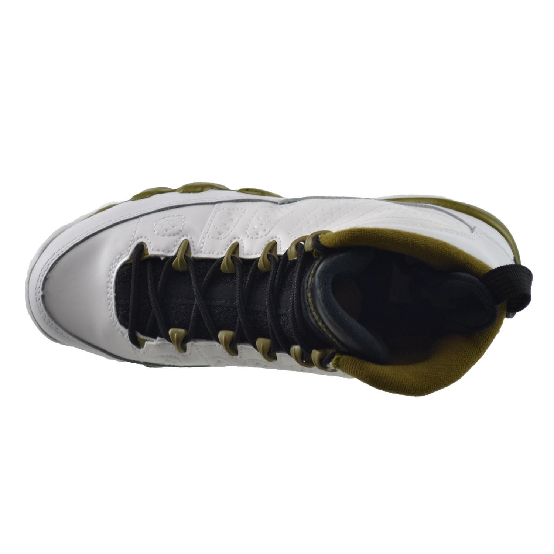 9256ecc6dce688 ... spain air jordan 9 retro bg big kids shoes white black militia green  302359 109 4