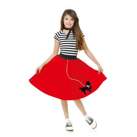 Sock Hop Dress (Halloween Sock Hop Sweetheart Girl's)