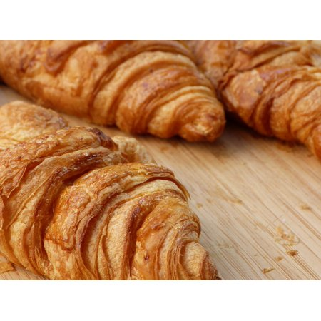 Croissant Halloween Food (Canvas Print Food Crispy Baked Goods Breakfast Croissant Stretched Canvas 10 x)