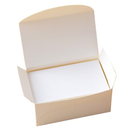 100pcs Double Sided Blank Kraft Paper Business Cards Word Card Message Diy Gift