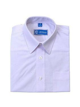 jb world boys white long sleeve no button collar uniform dress shirt