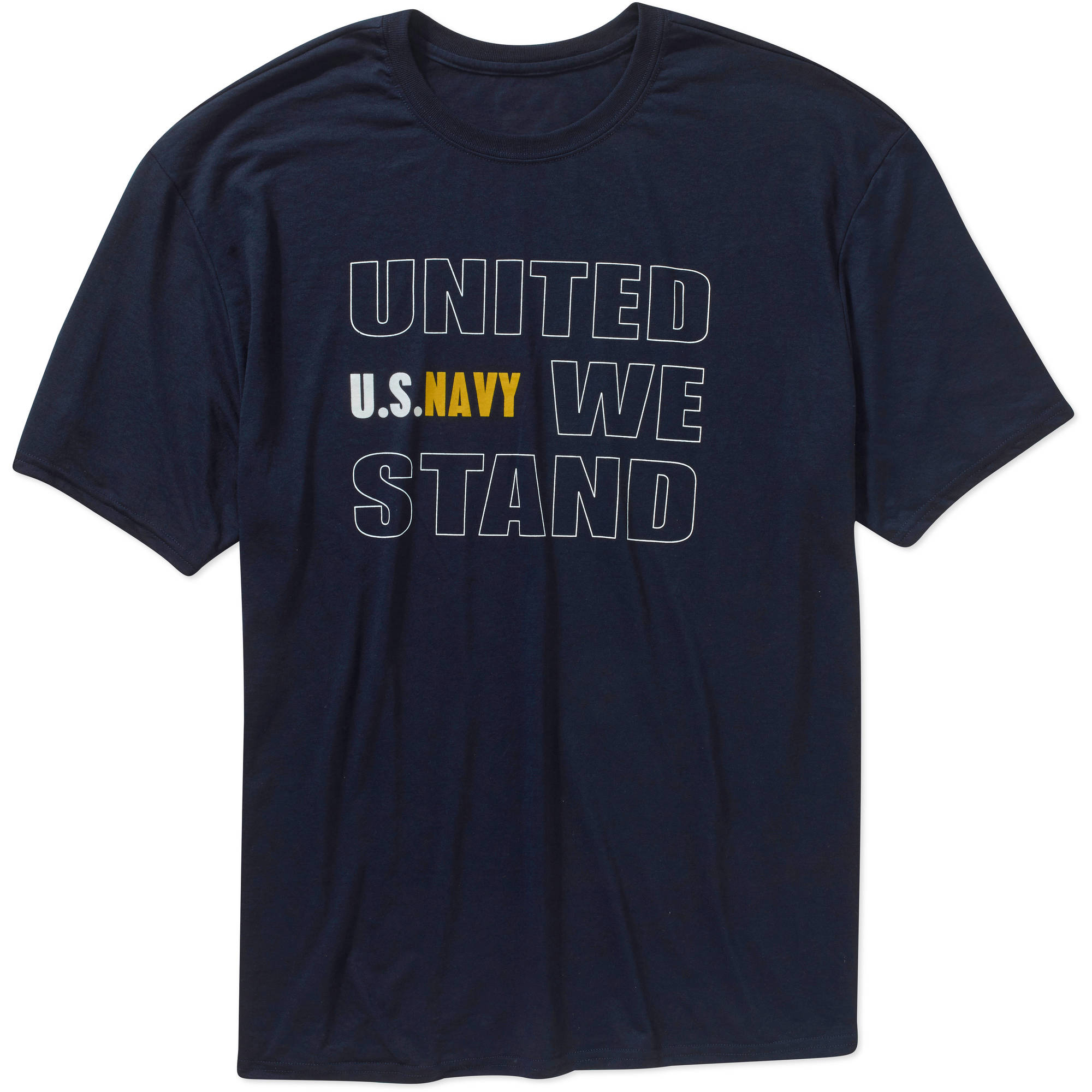 Big Men's Military Officially Licensed Navy United We Stand Performance Comfort Wear Graphic Tee, 2XL