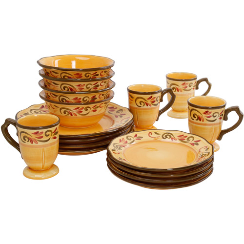 Gibson Everyday Heritage Park 16-Piece Dinnerware Set Multi-Color - Walmart.com  sc 1 st  Walmart & Gibson Everyday Heritage Park 16-Piece Dinnerware Set Multi-Color ...