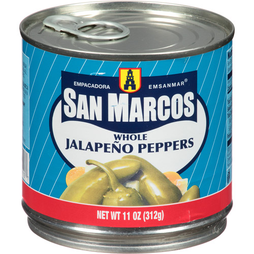 San Marcos Whole Jalapeno Peppers, 11 oz (Pack of 12)