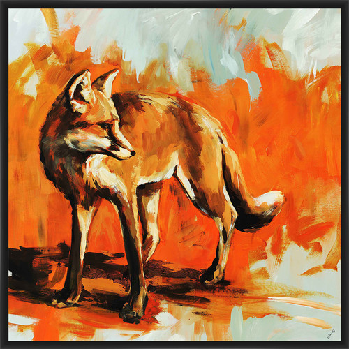 PTM Images 'Fox Trot' Framed Painting Print
