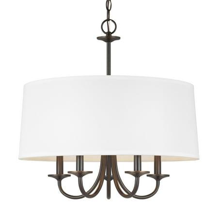 "Sea Gull Lighting 3320205 Seville 5 Light 22"" Wide Taper Candle Chandelier"