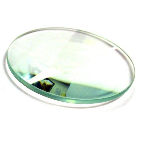 Eisco Labs Optical Glass Lens, Double Convex, 38mm Diameter, 20cm Focal - White Glass Lens