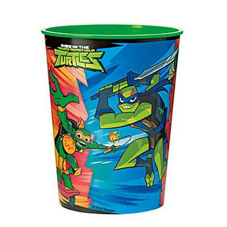 Teenage Mutant Ninja Turtles Plastic 16oz Favor Cup (1) - Teenage Mutant Ninja Turtle Party Supplies