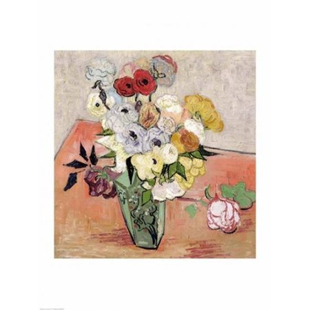 Posterazzi BALXIR33824LARGE Roses & Anemones 1890 Poster Print by Vincent Van Gogh - 24 x 36 in. - Large - image 1 of 1