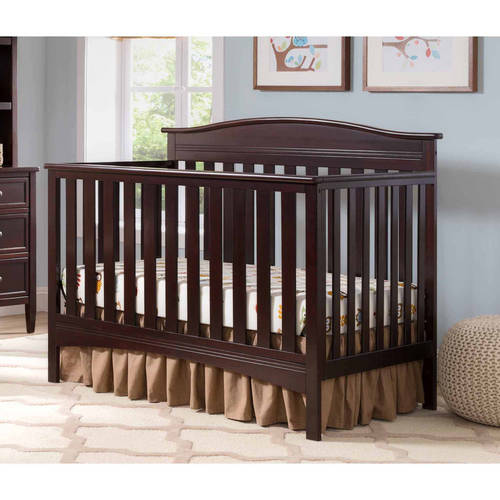 Delta Children Baker 4-in-1 Fixed-Side Convertible Crib, (Choose Your Finish)
