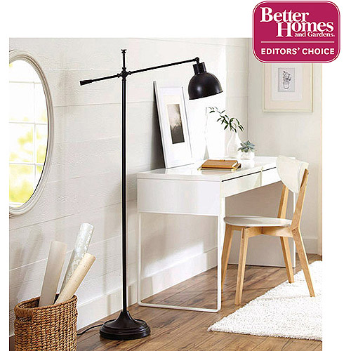 Better Homes and Gardens Hinged Floor Lamp, Bronze Finish