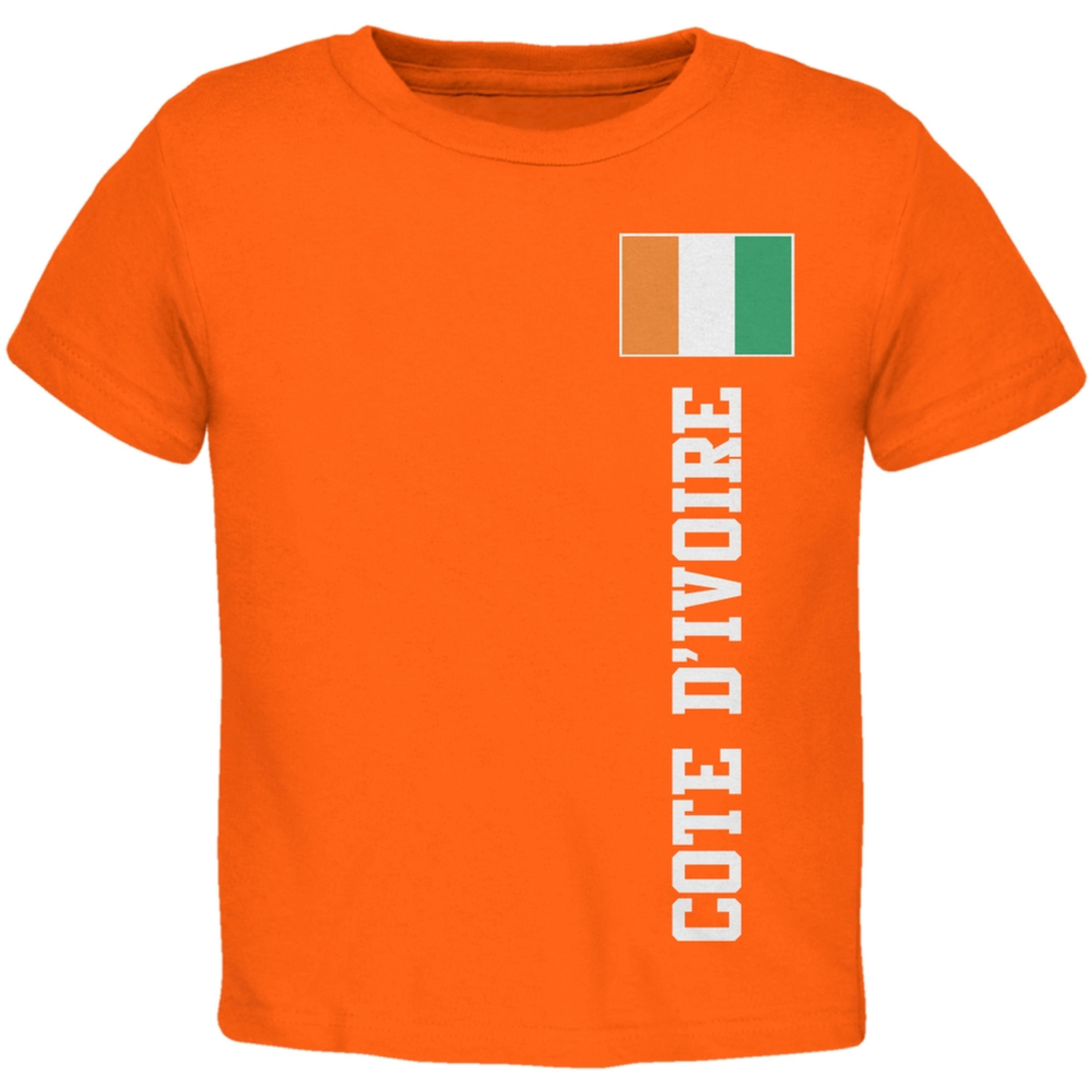 World Cup Cote D'Ivoire Orange Toddler T-Shirt