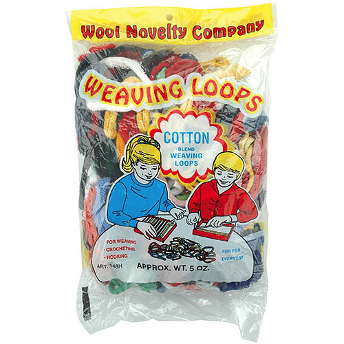 Jersey Weaving Loops, Assorted, 5 oz