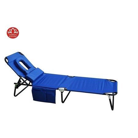 Kozyard Foldable Chaise Lounge Chair For Beach Patio Pool Back Yard Or Camping