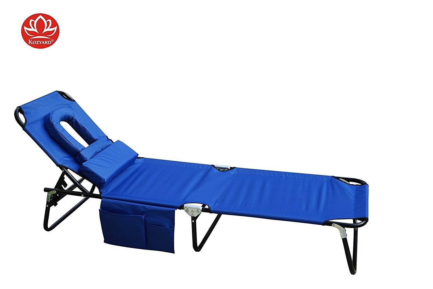 Kozyard Foldable Chaise Lounge Chair For Beach, Patio, Pool, Back Yard Or  Camping
