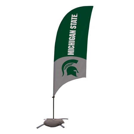 Victory Corps 810029MSU-001 7.5 ft. Michigan State Spartans Razor Feather NCAA Flag with Cross Base - No.001 - image 1 of 1
