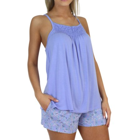 2d6e9bdcaf567b Pajama Heaven Women s Bamboo Jersey Adjustable Tank and Short Pajama ...