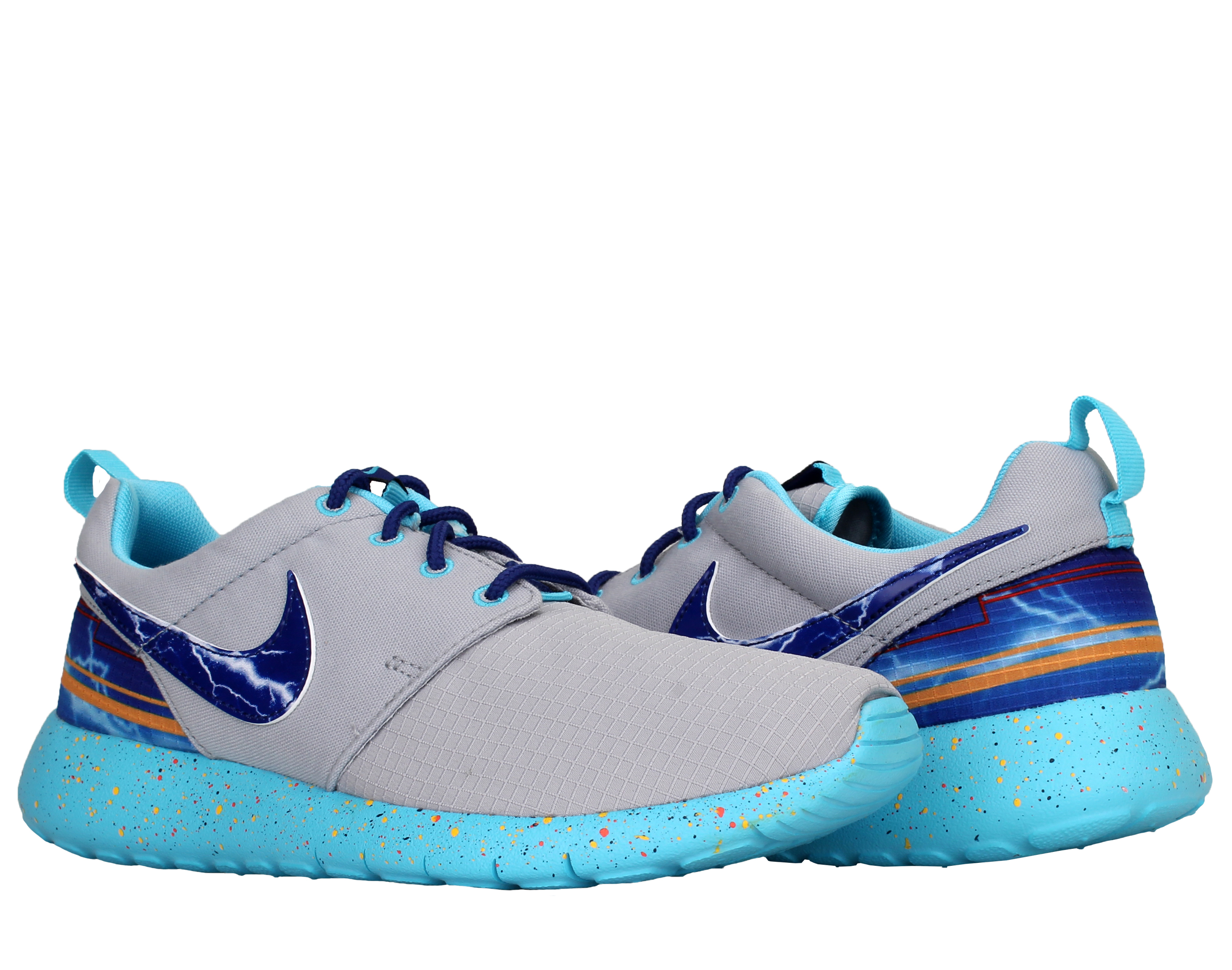 Nike Roshe Run Print (GS) [Lightning] Boys' Running Shoes 677782-006 Size 4